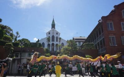 [Nagasaki:JPN] The departure ceremony for Earth Caravan's Flame of Hope festival in Nagasaki