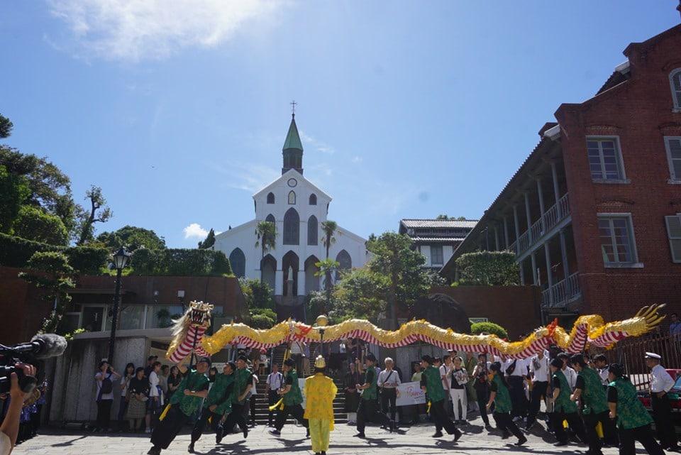 [Nagasaki:JPN] The departure ceremony for Earth Caravan's Flame of Hope festival in Nagasaki
