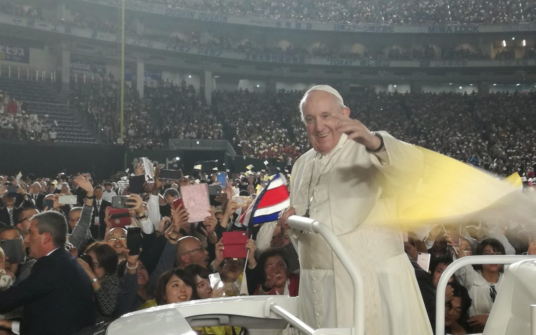 Flame of Hope Lights Pope Mass in Tokyo
