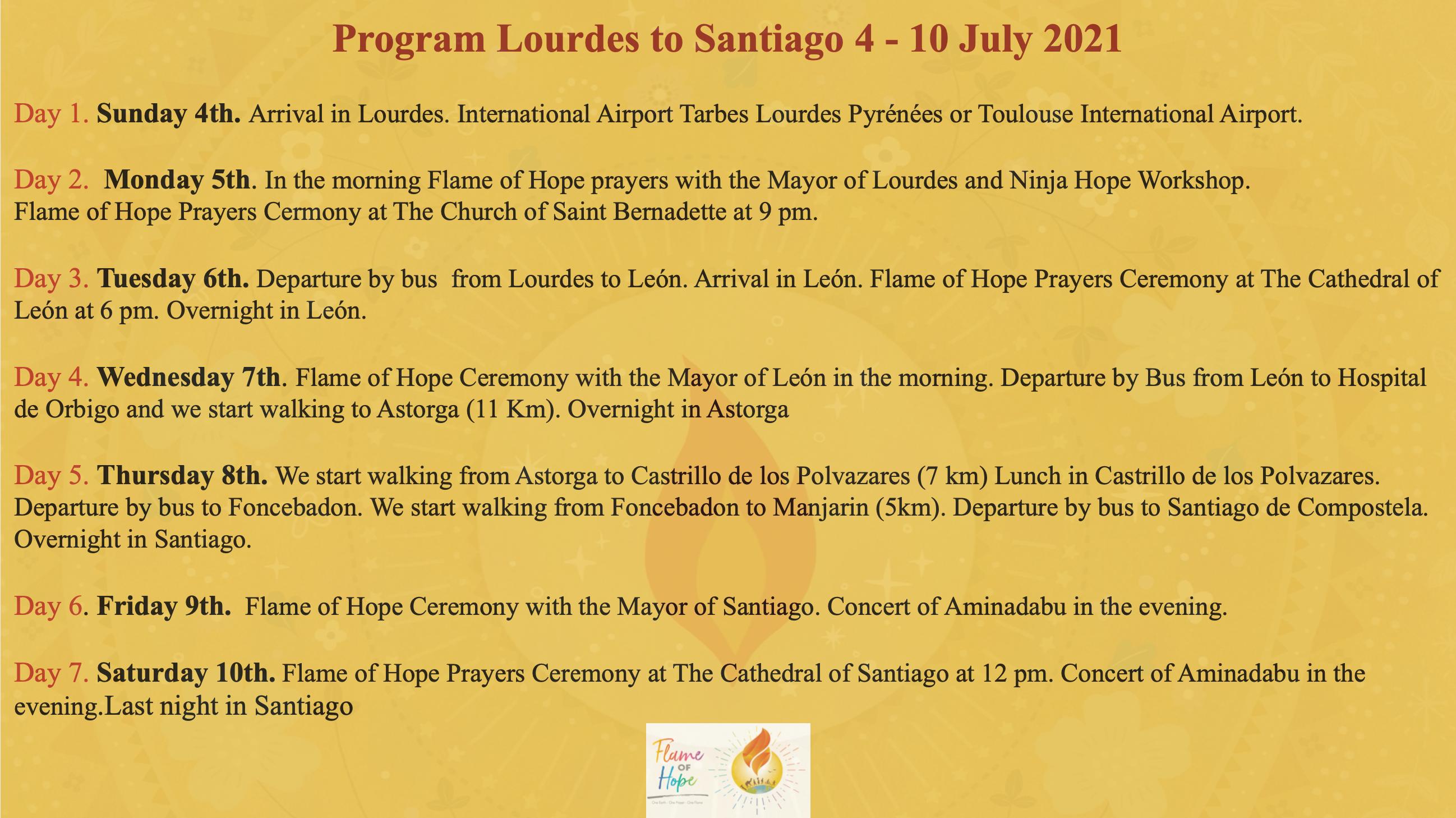 Pilgrimage Lourdes to Santiago 2021 4